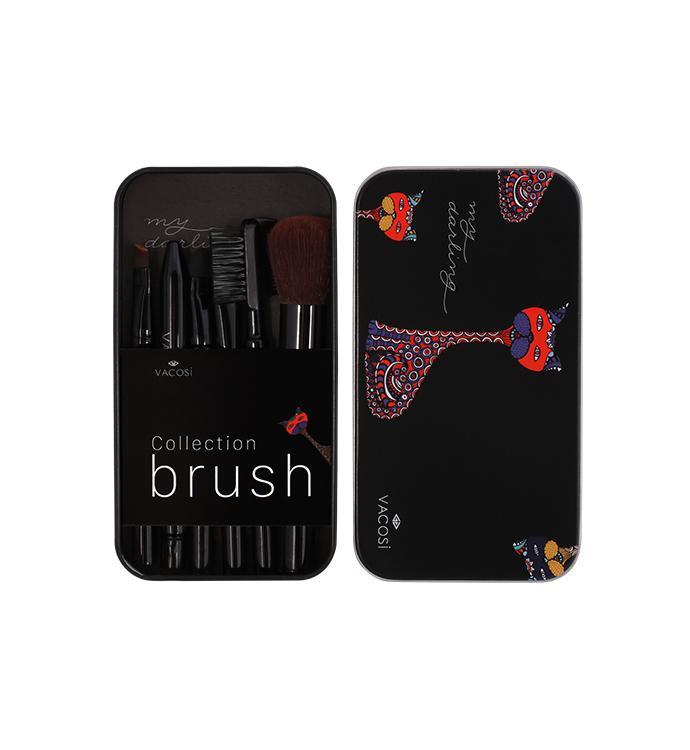 Bộ Cọ Trang Điểm Hộp Sắt Mini 6 Cay Vacosi Collection Makeup House Đen Hang Chinh Hang Hồ Chí Minh Chiết Khấu 50