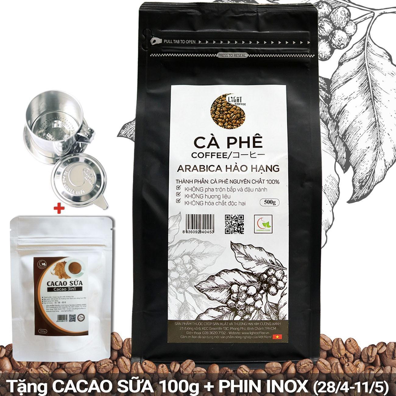 Cửa Hàng Ca Phe Hạt Nguyen Chất 100 Arabica Hảo Hạng Light Coffee Goi 500G Rẻ Nhất