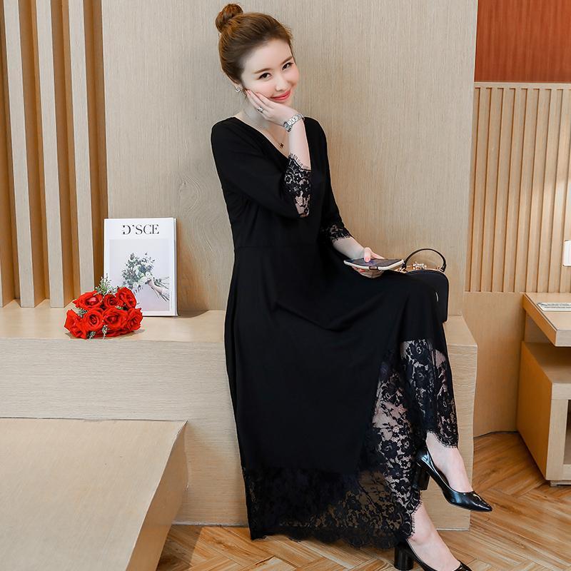 Ukuran besar baju wanita 18 model baru busana musim gugur MM favorit Putri  RESTONIC Menutupi Perut 5720f4bfa1
