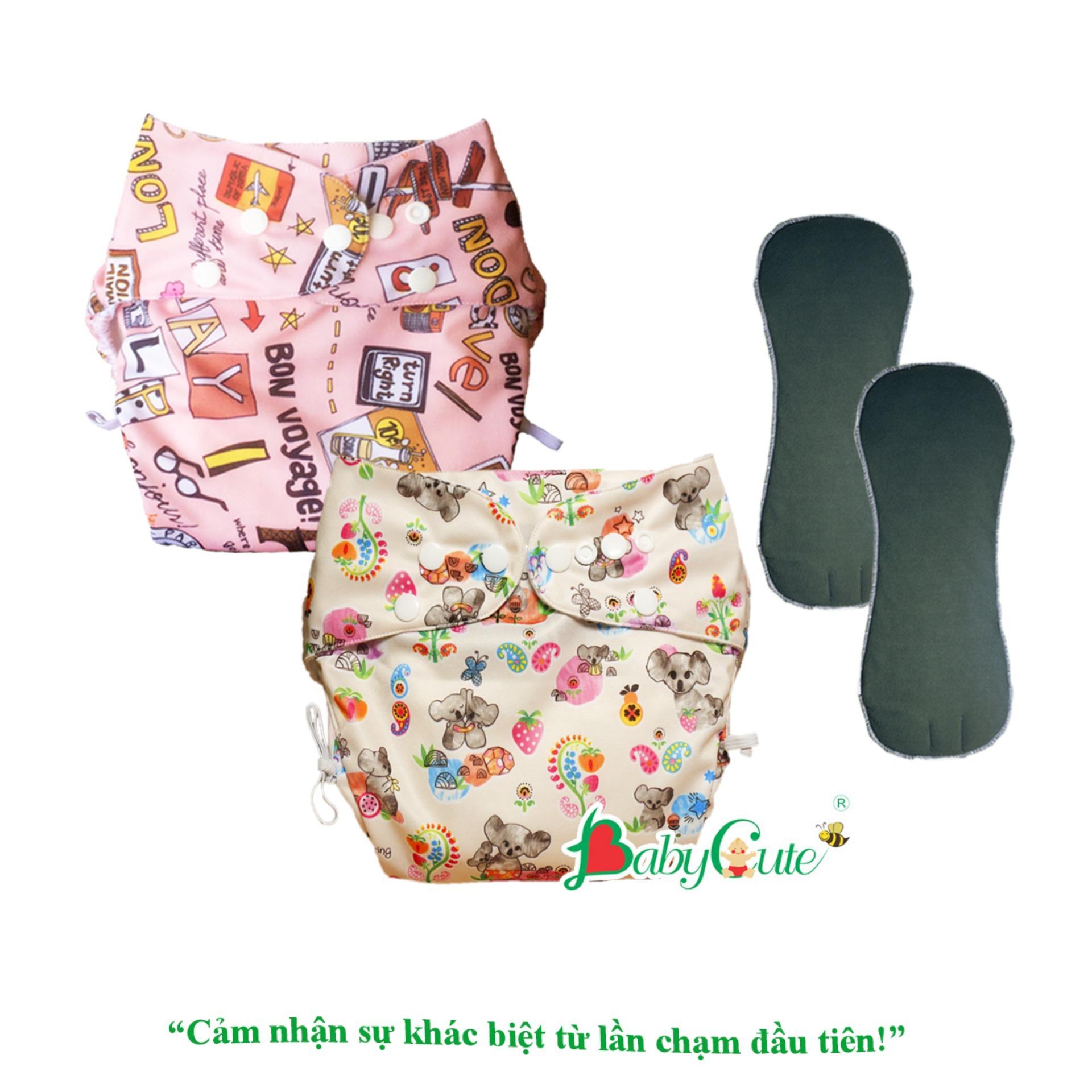 Combo 2 bộ tã vải đêm Siêu chống tràn BabyCute size M (8-16kg)