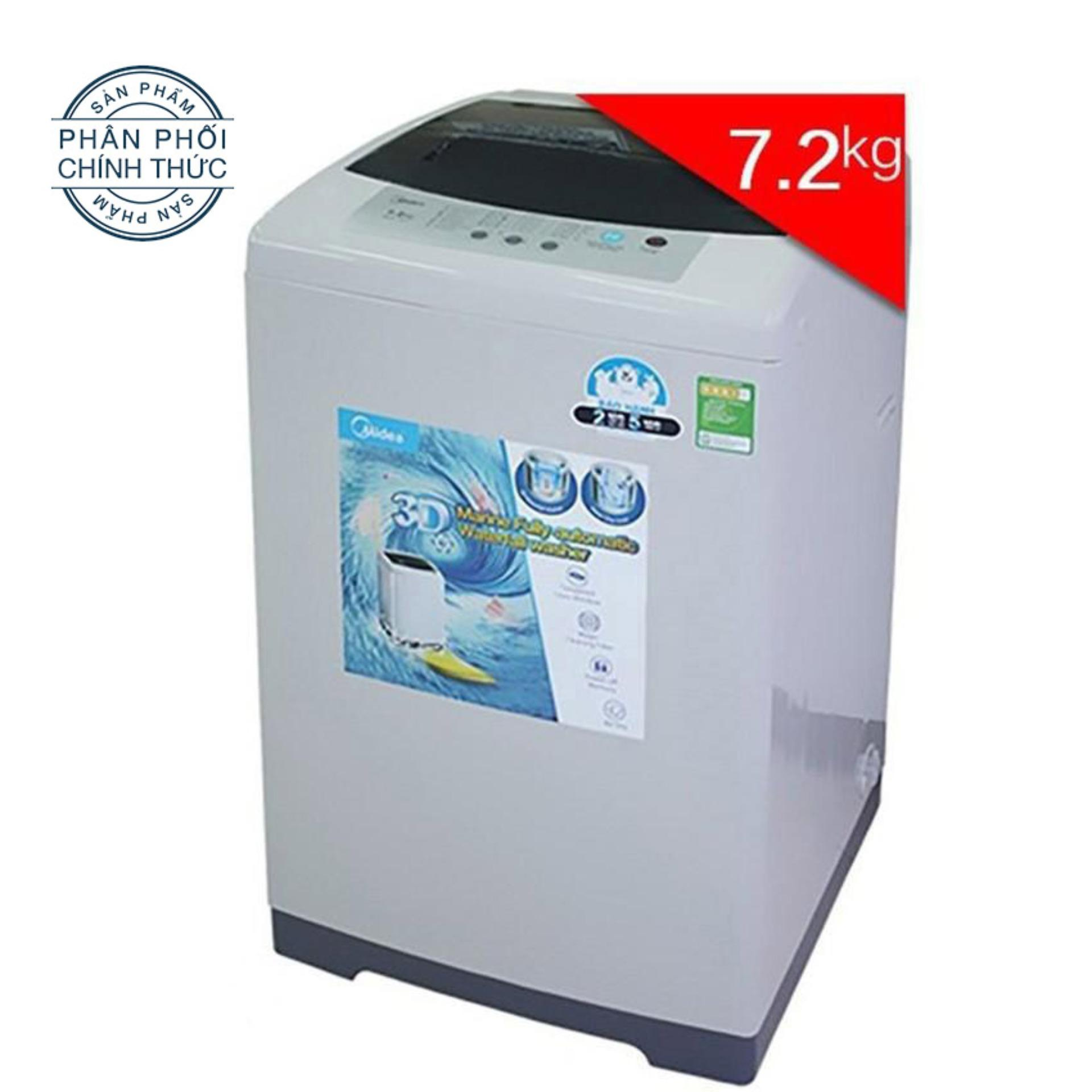 Hình ảnh Máy Giặt Cửa Trên Midea MAS-7201 (7.2Kg) (Xám nhạt)