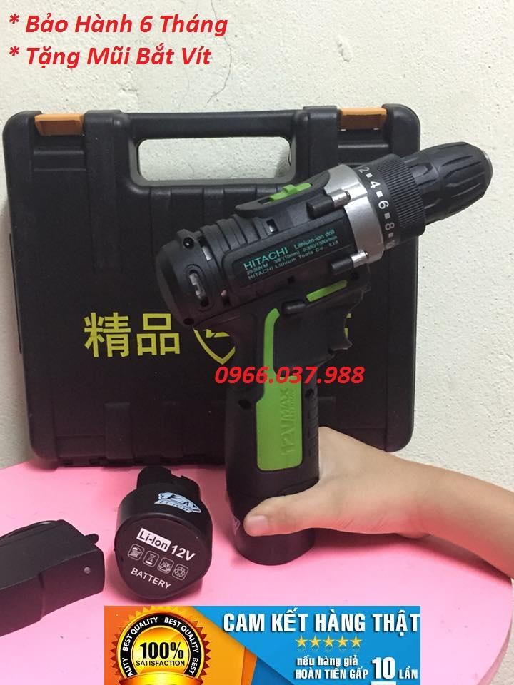 Máy Khoan Pin 12v Hitachi- 2 Pin