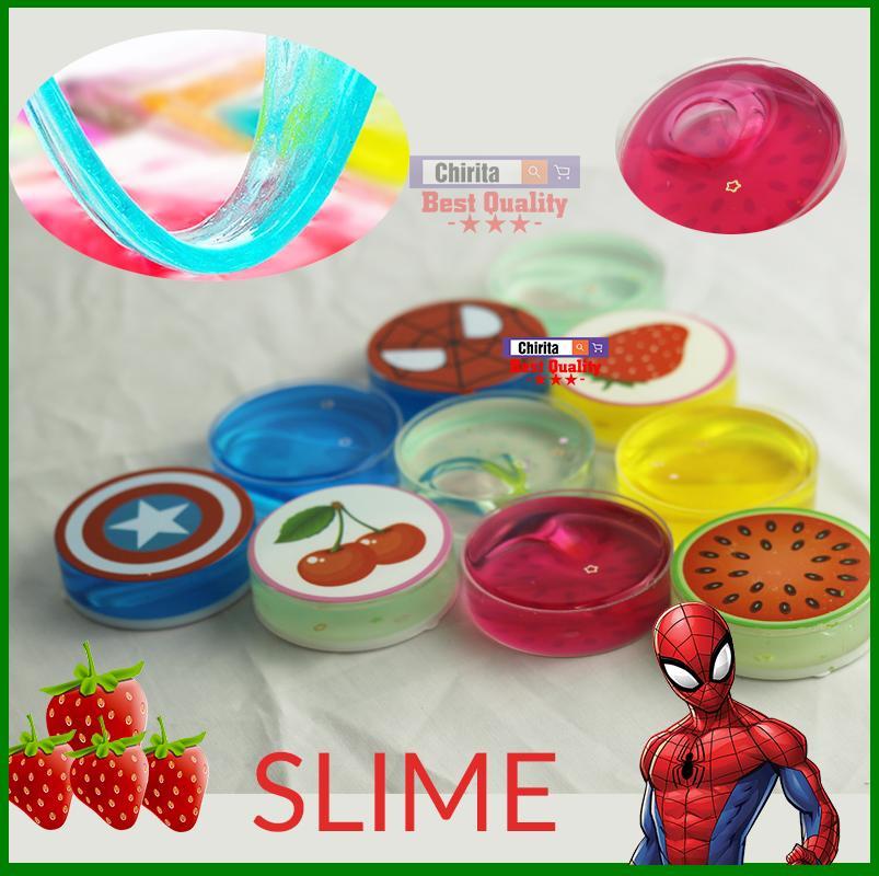 Hình ảnh Bộ 5 Slime Trái Cây - Chất Nhờn Ma Quái - Slimes Dẻo - Slimes Nhựa - Chirita CRM243