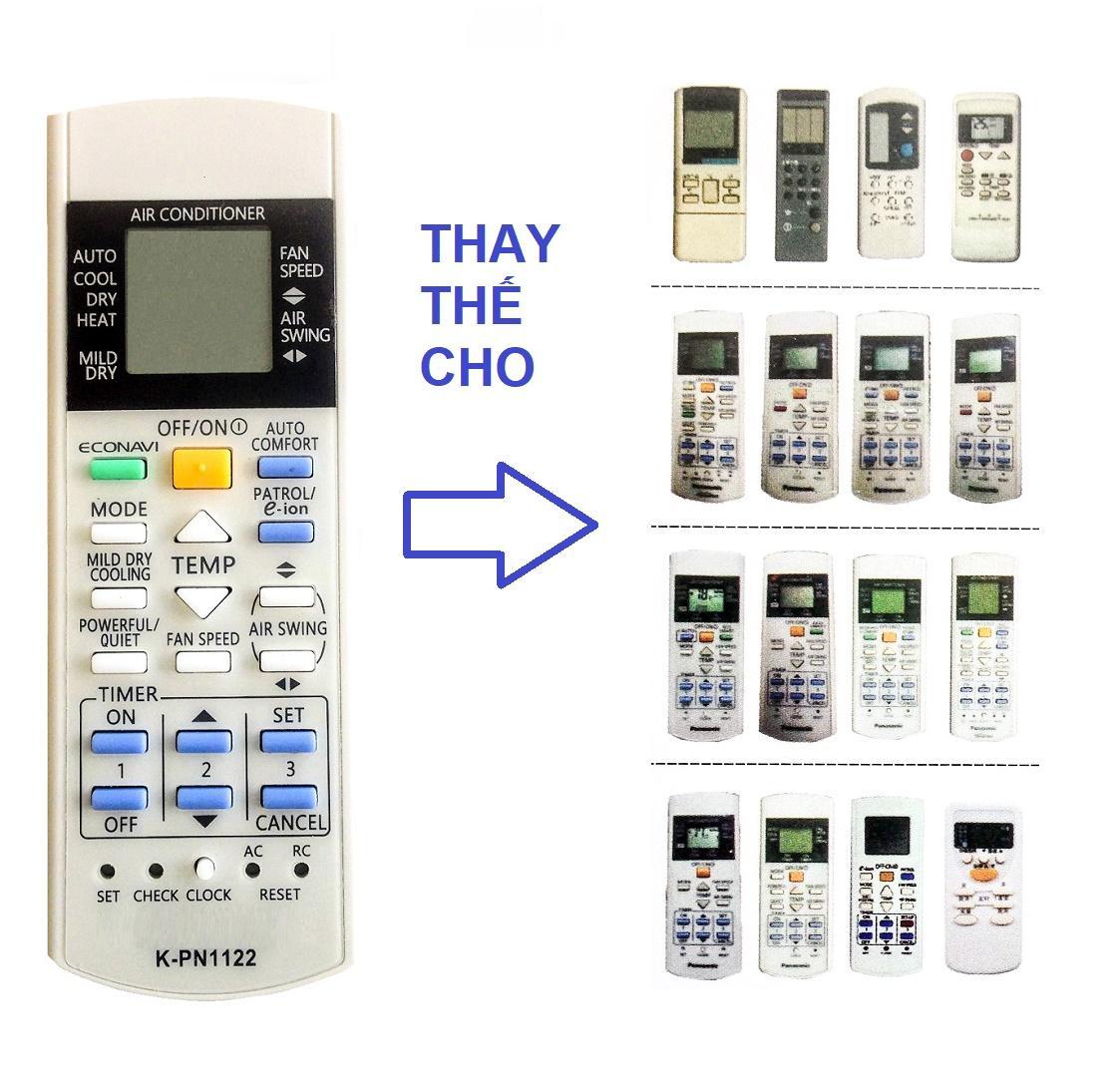 Hình ảnh Remote Đa Năng Điều Khiển Nhiều Model Máy Lạnh Panasonic Inverter, E-ion, Econavi, Ion