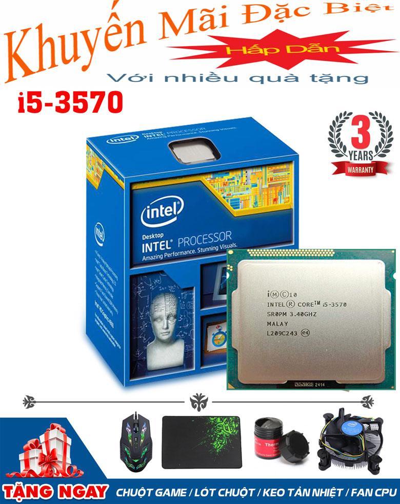 Hình ảnh CPU Intel Core i5-3570 @ 3.40GHz (4 lõi, 4 luồng) + Quà Tặng - Hàng Nhập Khẩu