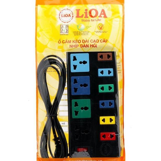 Hình ảnh Ổ cắm điện LIOA bảo vệ quá tải 10 ổ cắm 4d6s32 dây 3 mét