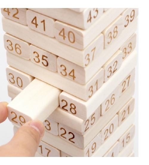 Hình ảnh Bộ đồ chơi rút gỗ 48 thanh + 4 xúc xắc