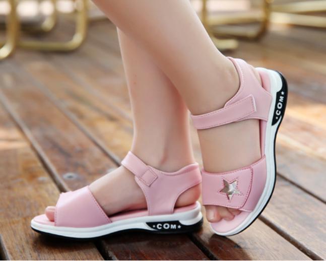 Hình ảnh Dép sandal phong cách Hàn Quốc bé gái 4-10 tuổi