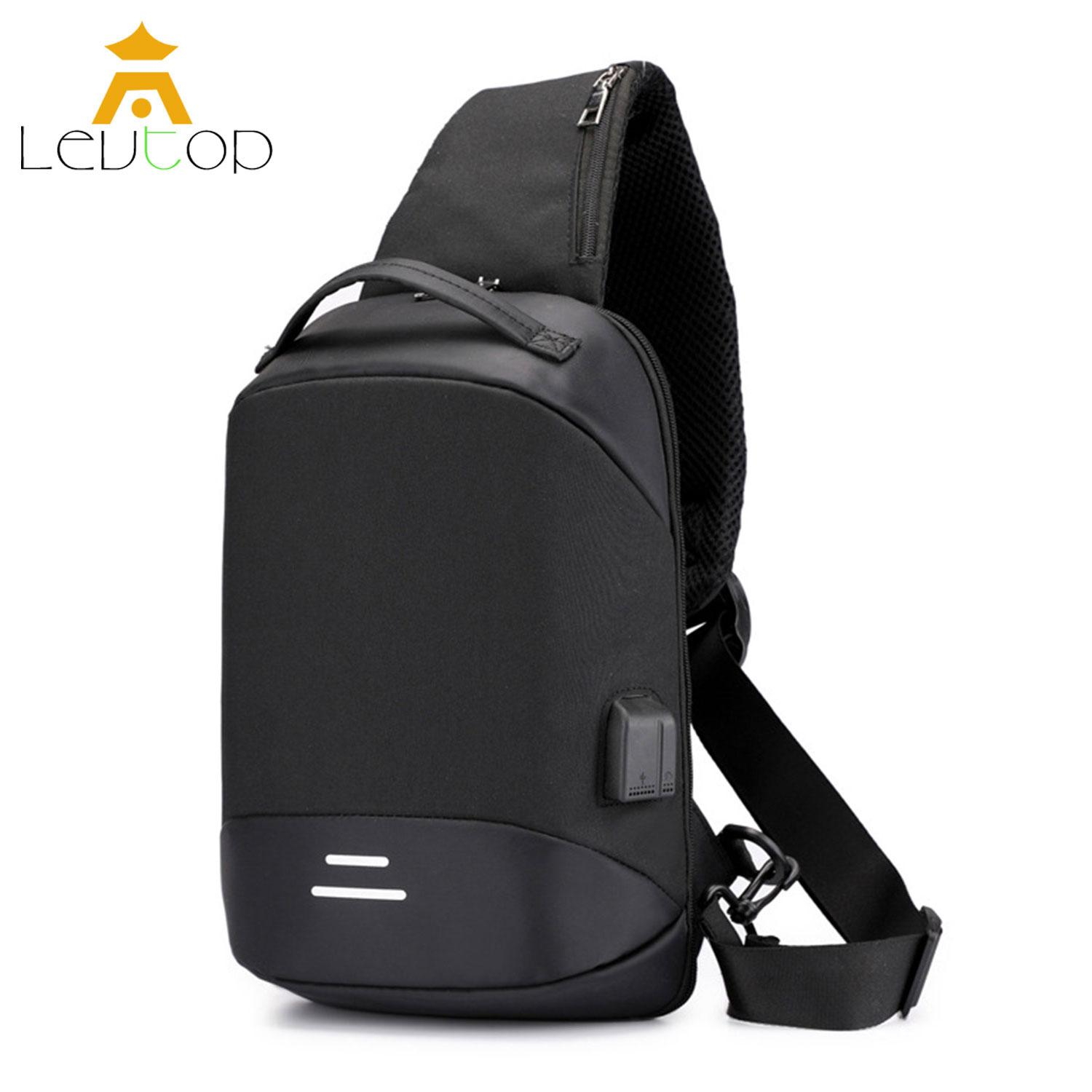 31b8dc5576cc LEVTOP Men Crossbody Bags Sling Bags Chest Shoulder Bags Big Capacity  Messenger Travel Bags USB Charging