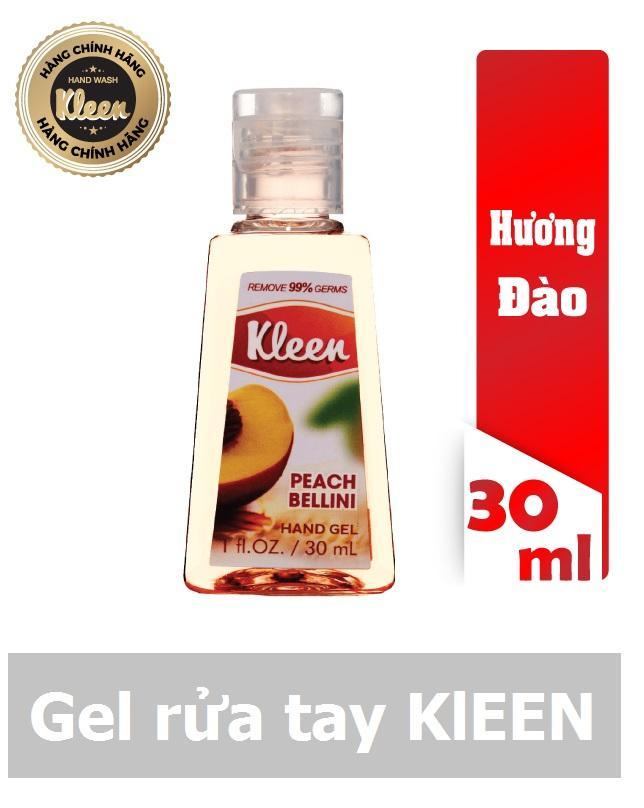 Hình ảnh Gel rửa tay khô Kleen 30ml (Đào)