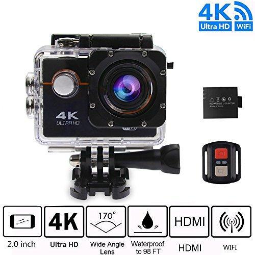 Hình ảnh Camera thể thao 4K Ultra HD Wifi chống nước Action Sports tặng pin dự phòng