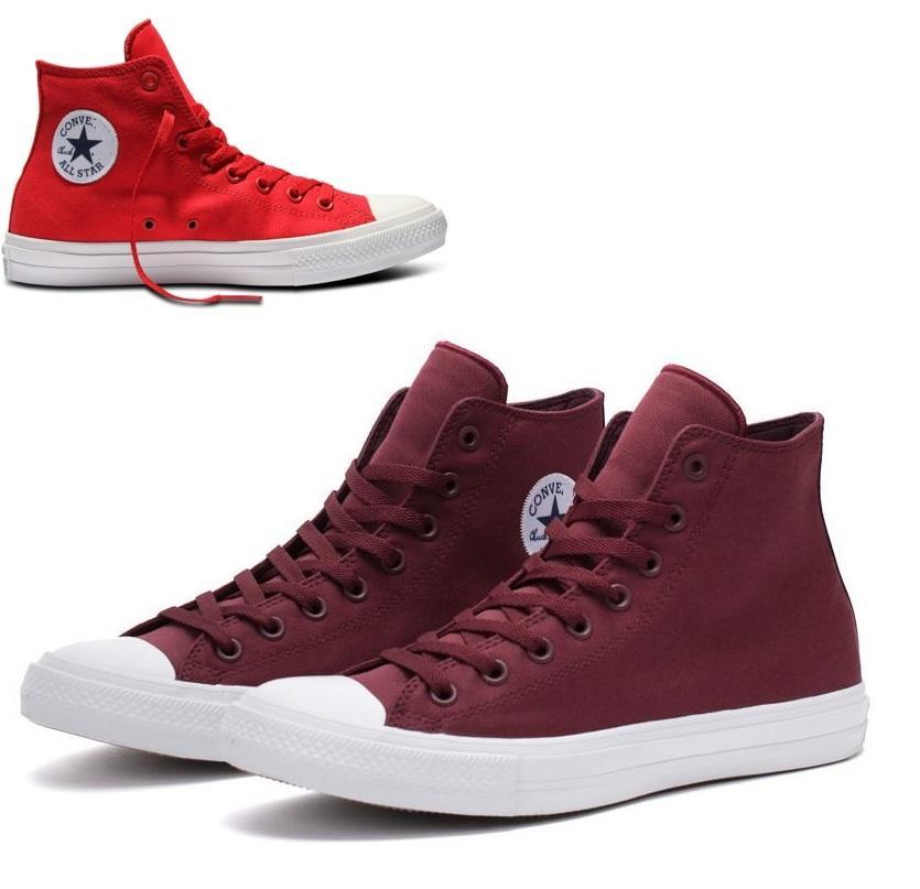 Hình ảnh (XẢ KHO 1 NGÀY) Giày CV CH2 cao cổ nam nữ (đen, trắng, đỏ)
