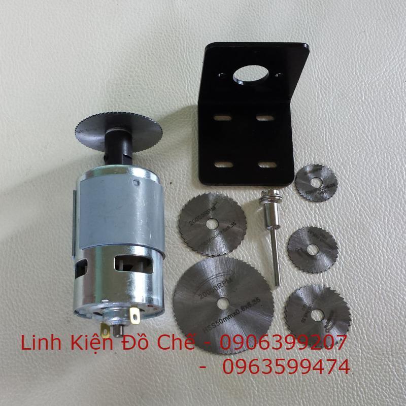 combo máy cắt mini với motor 775 - 150w