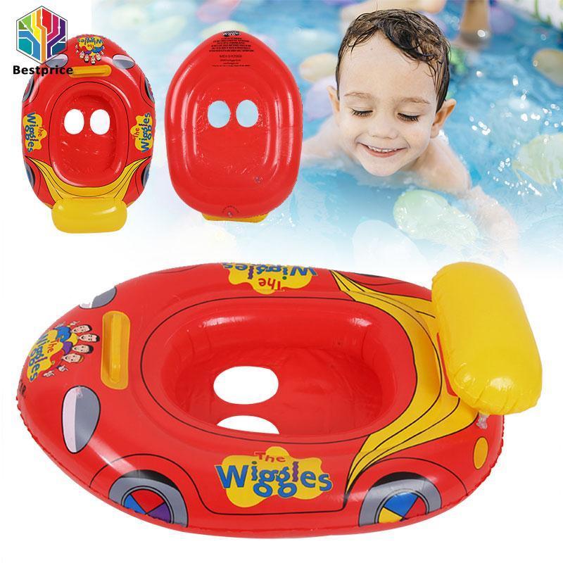 Hình ảnh Bestprice Inflatable Swim Float Swimming Ring Cartoon Car Shape Kid Baby