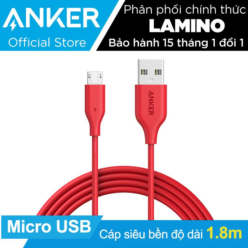 Mua Cap Sạc Sieu Bền Anker Powerline Micro Usb 1 8M Đỏ Hang Phan Phối Chinh Thức Mới Nhất