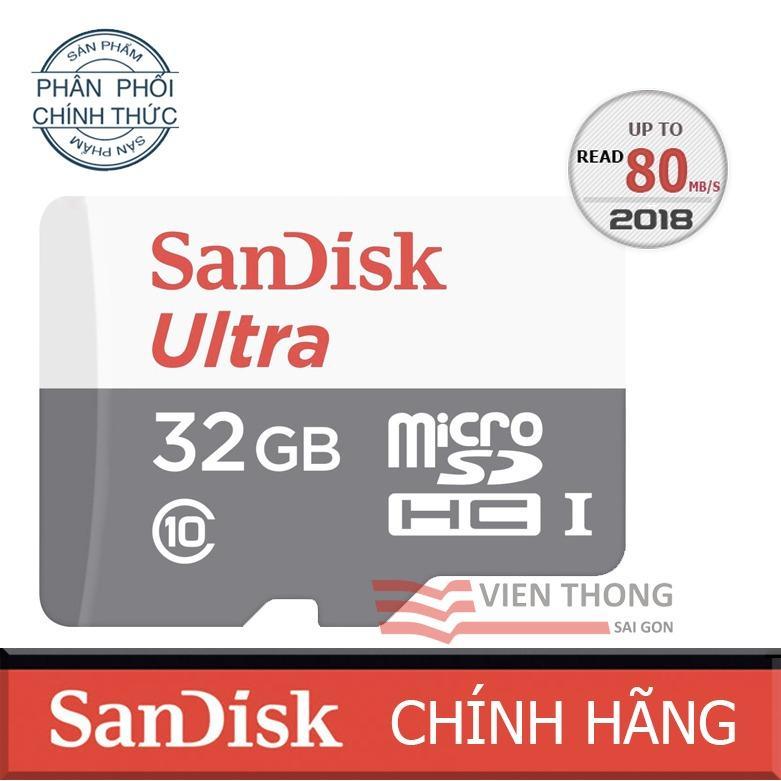Bán Thẻ Nhớ Micro Sd Ultra Sandisk 32Gbclass10 48Mb S Hangphanphốichinh Thức Có Thương Hiệu Nguyên