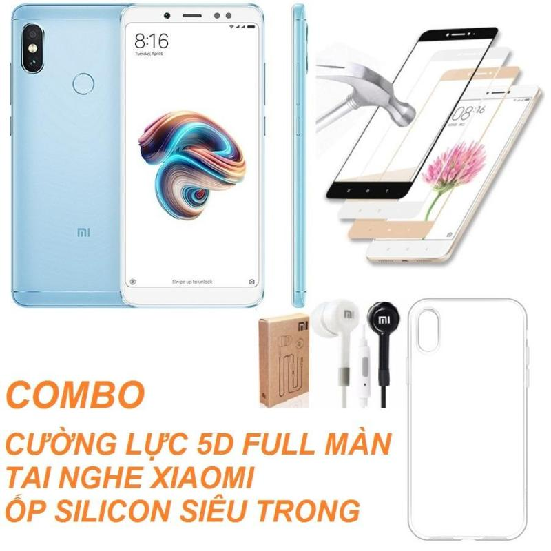 Xiaomi Redmi Note 5 Pro 32GB Ram 3GB (Xanh) + Cường lực 5D Full màn + Ốp lưng + Tai nghe - Hàng nhập khẩu
