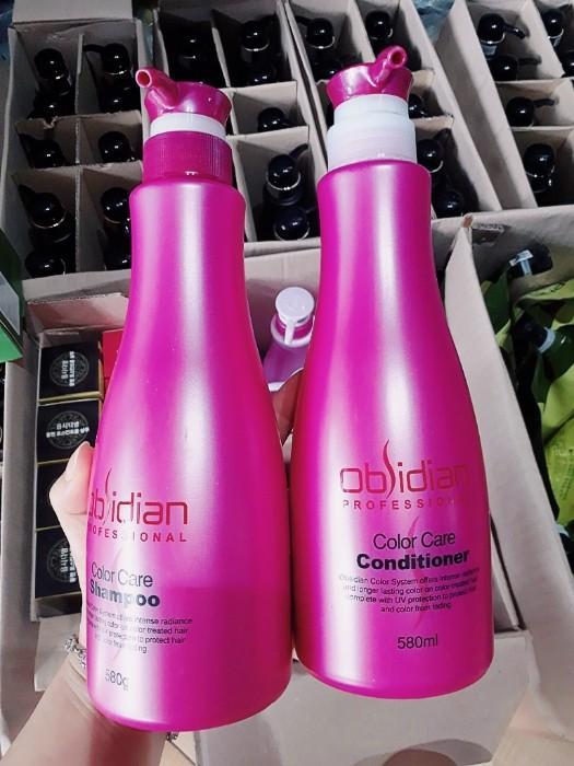 dầu gội và dầu xả dành cho tóc nhuộm Obsidian Color Care 580 g