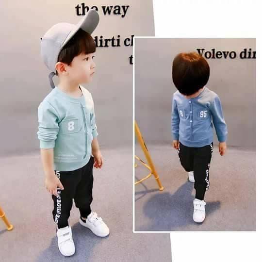 Hình ảnh Bộ quần áo thu đông cho bé trai bé gái