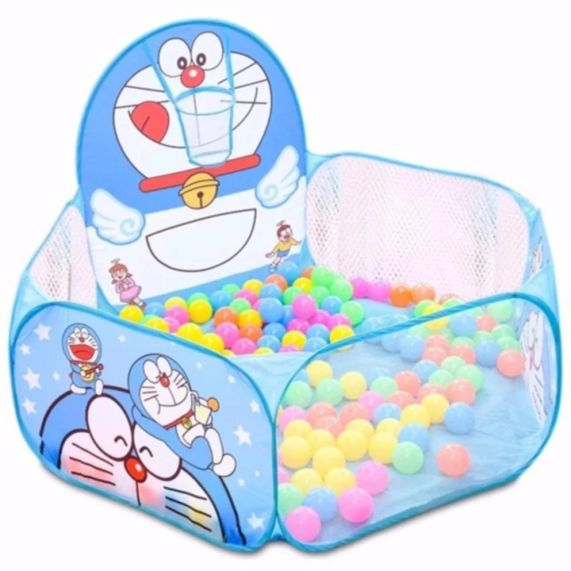 Hình ảnh Lều bóng nhà banh trẻ em kèm 200 bóng_Lều Đoremon