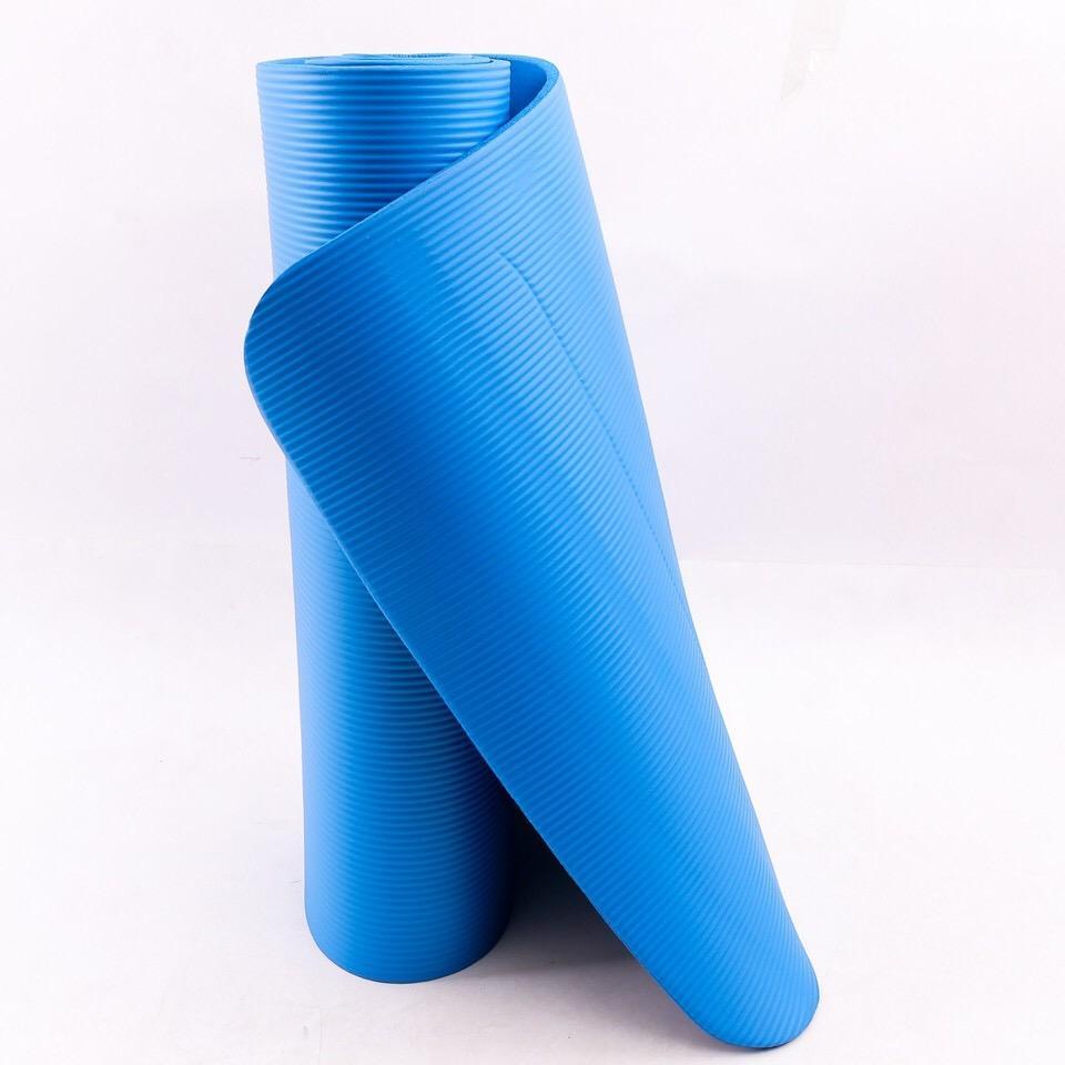 Hình ảnh Thảm Yoga Dày 10mm Cao Cấp ( Xanh Dương)