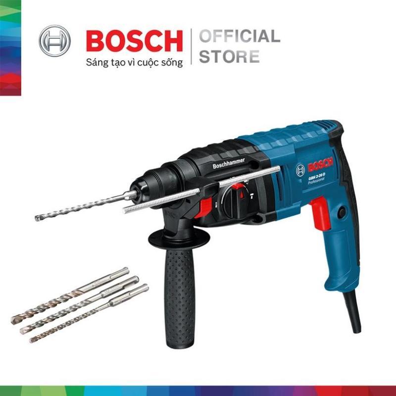 Máy khoan búa Bosch GBH 2-20 DRE - Tặng kèm bộ 3 mũi khoan
