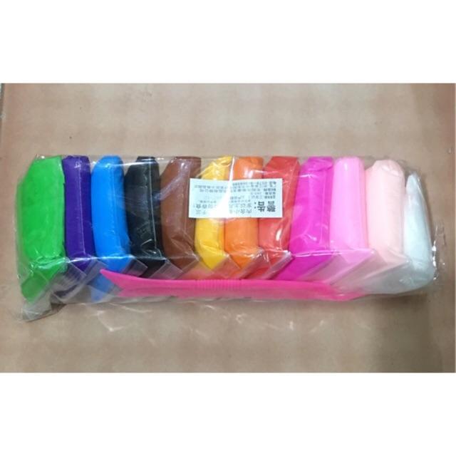 Hình ảnh Đất sét Nhật (gói 12 màu) soft clay nguyên liệu slime