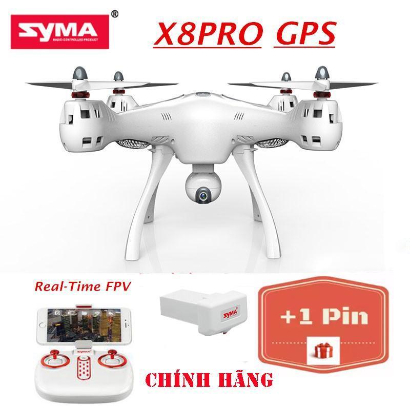 ( GỒM 2 PIN ) Máy bay flycam Syma X8 Pro (Syma X8 Pro) - Có GPS, tự động quay về, camera truyền trực tiếp- Bảo hành 3 tháng
