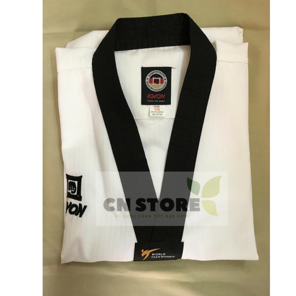 Hình ảnh Quần Áo Võ _ Võ Phục Taekwondo Hiệu Kwon Cổ Đen Nhập Khẩu Giá Tốt