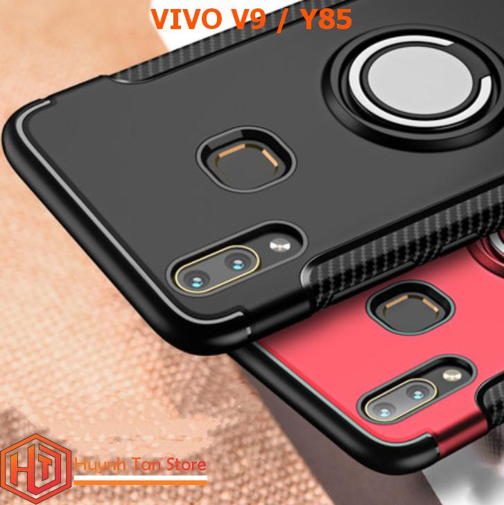 Hình ảnh Ốp lưng Vivo V9_Ốp lưng chống sốc giáp Ô tô 3 tiện ích cho Vivo V9 Đen
