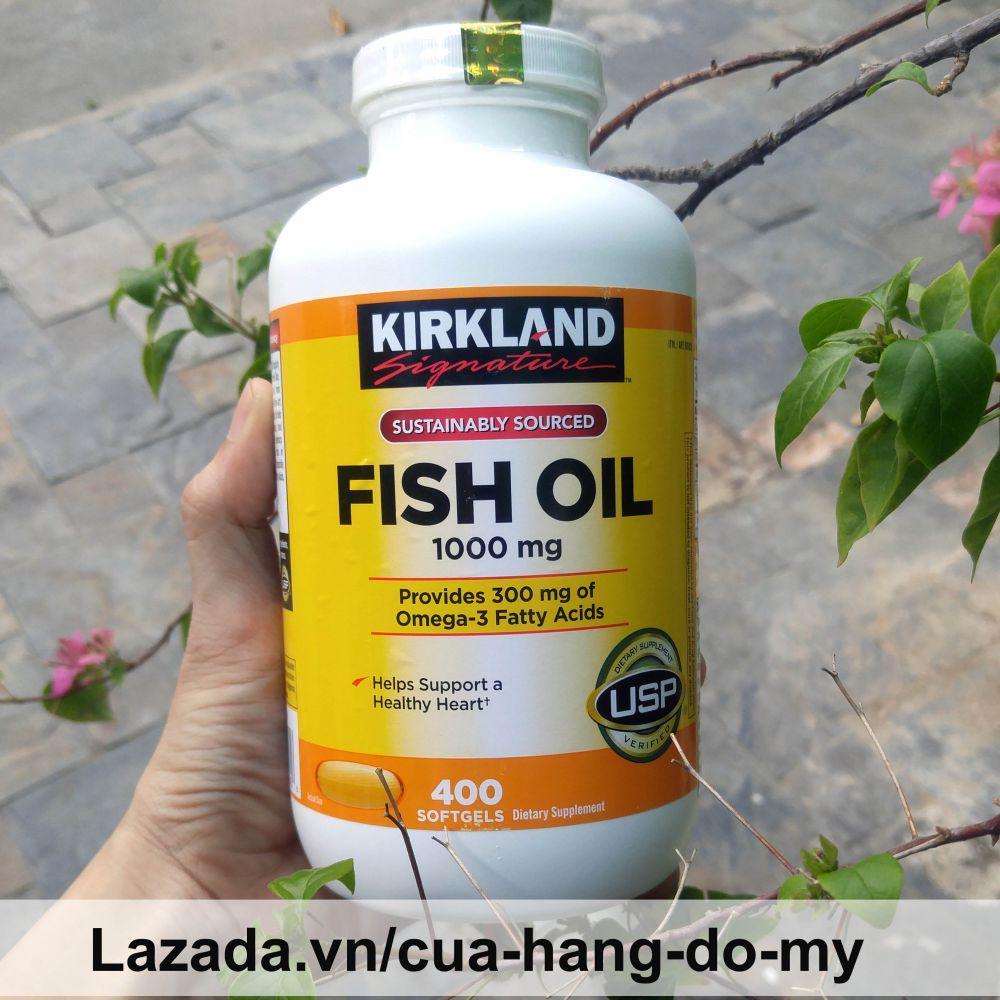 Hình ảnh Viên Uống Dầu Cá Kirkland Fish Oil 1000mg 400V
