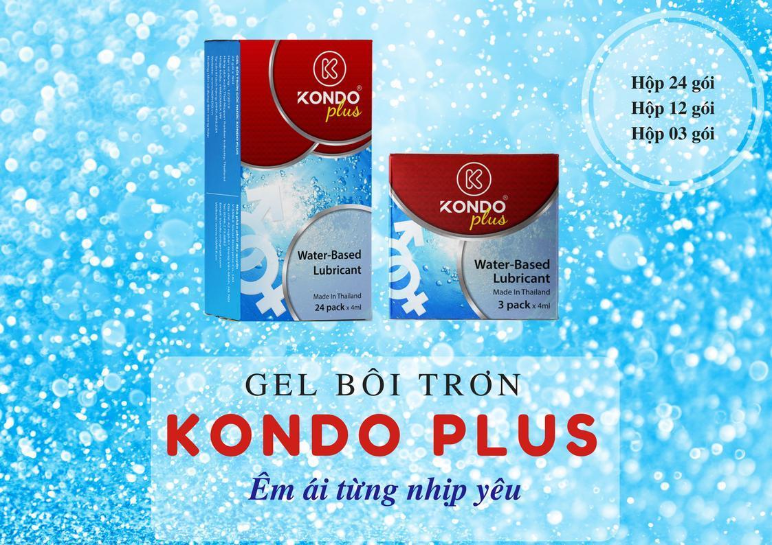 Bộ 24 gói Gel bôi trơn Thái Lan KONDO PLUS tặng 24 chiếc bao cao su YOUNG LOVE DOCTOR - AdamZone