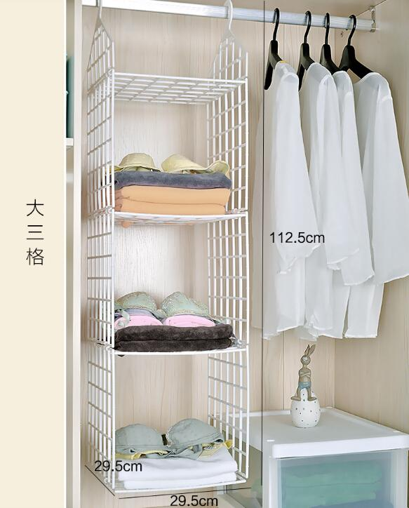 Hanging Storage Bag Closet Plastic Household Dormitory Wardrobe of Clothes Organizing Debris Hanging Underwear Storage Bag