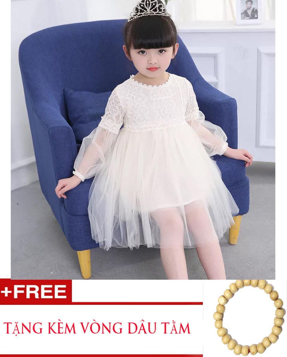 Hình ảnh Đầm công chúa dự tiệc cho bé+ Vòng dâu tằm