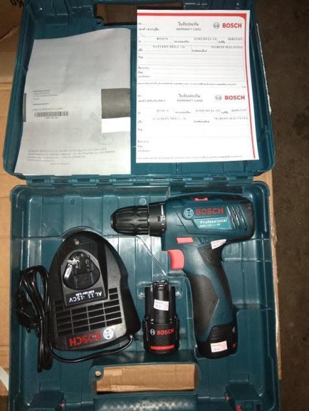 Máy khoan pin 12 vôn Bosch GSR-1200-Li-2B Made in Malaysia ( được Thái lan kiểm duyệt và nhập khẩu )