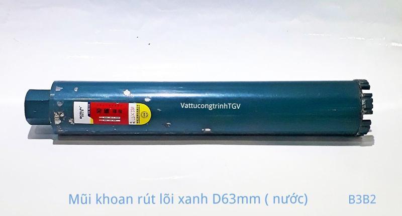 Mũi khoan rút lõi Xanh D63mm ( mũi nước)