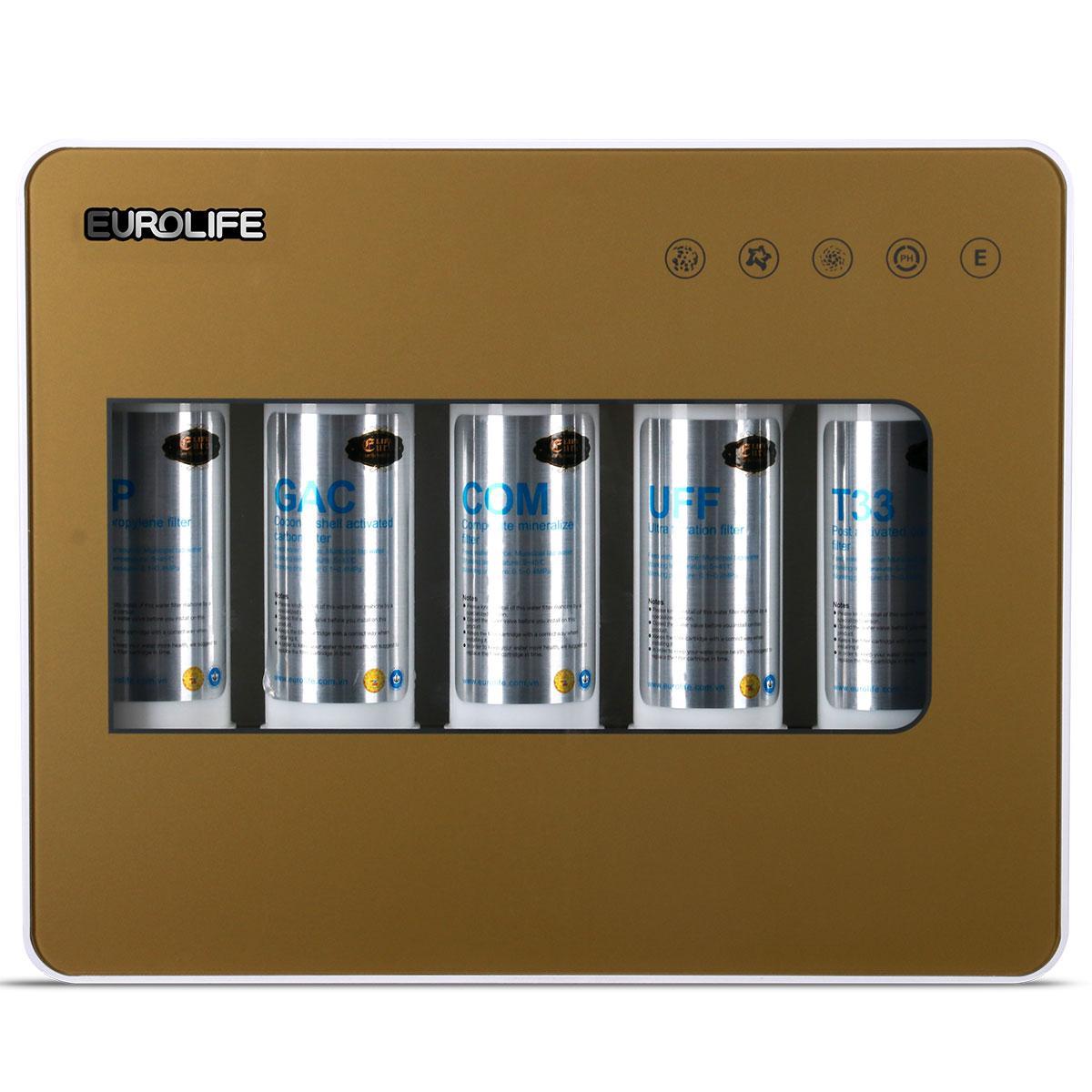 Hình ảnh Máy lọc nước uống trực tiếp 5 cấp độ lọc Eurolife EL-UF5 (Gold)