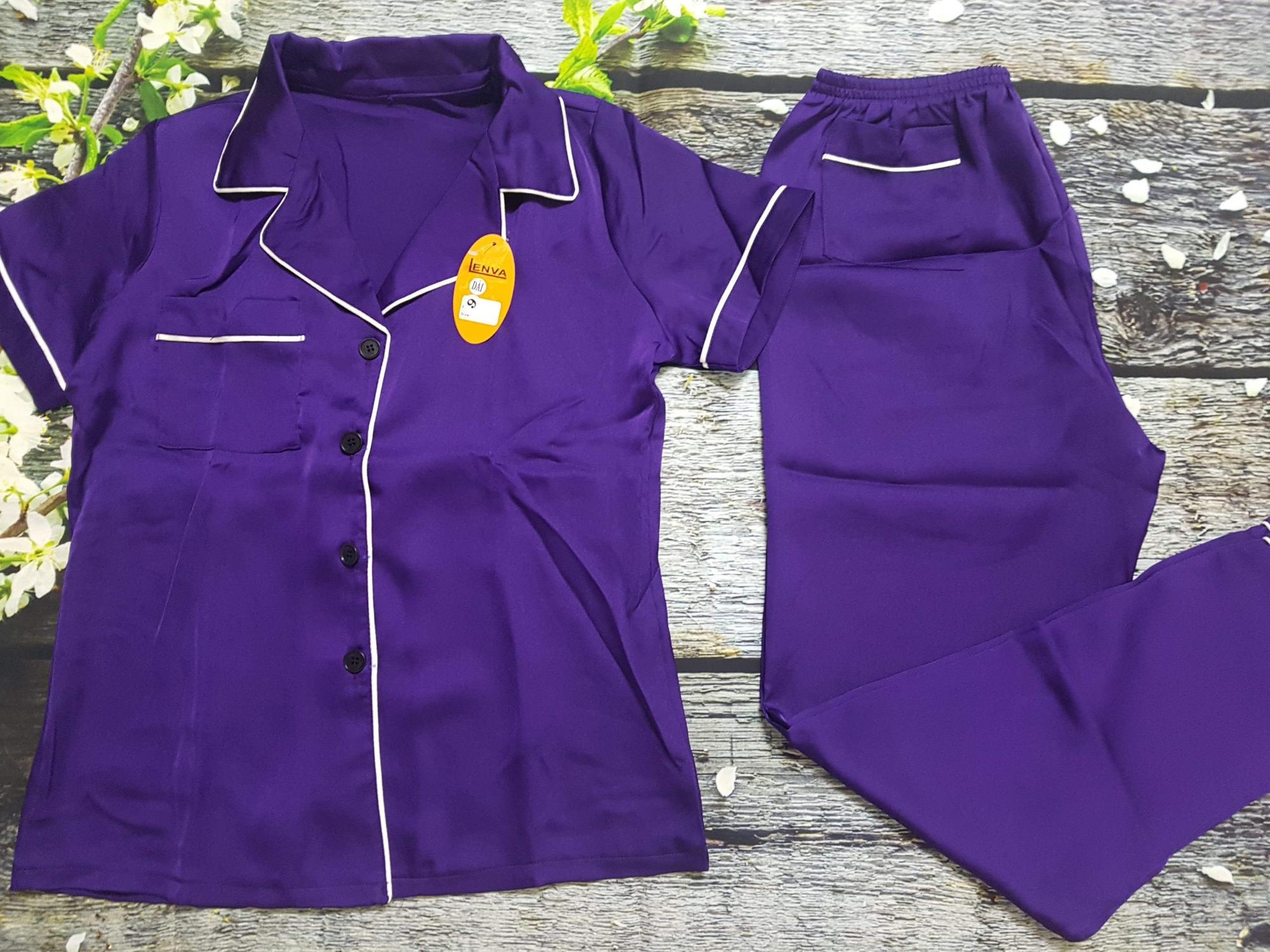 Ôn Tập Cửa Hàng Pijama Satin Lụa Dai Tay Ngắn Cao Cấp Cho Nữ 45 55Kg Trực Tuyến