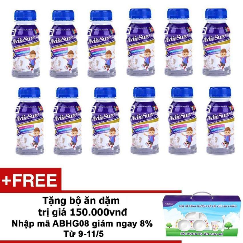 Cửa Hàng Bộ 12 Chai Sữa Nước Pediasure Vanilla Tặng Bộ Ăn Dặm Trị Gia 150 000Vnđ Pediasure Hồ Chí Minh