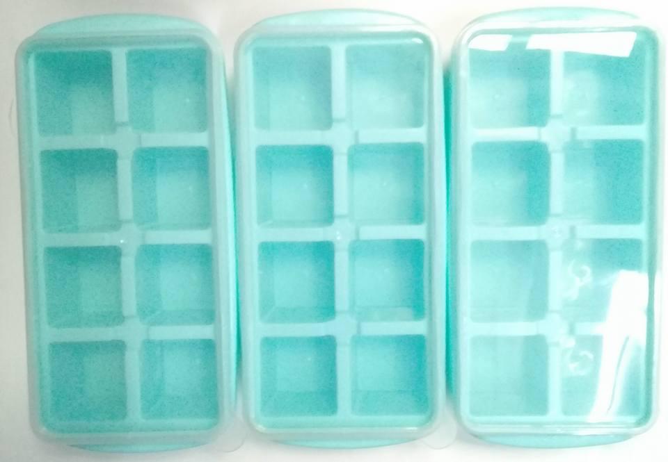 Hình ảnh Bộ 3 khay làm đá có nắp, nhựa Việt Nhật ,khay 8 viên -star