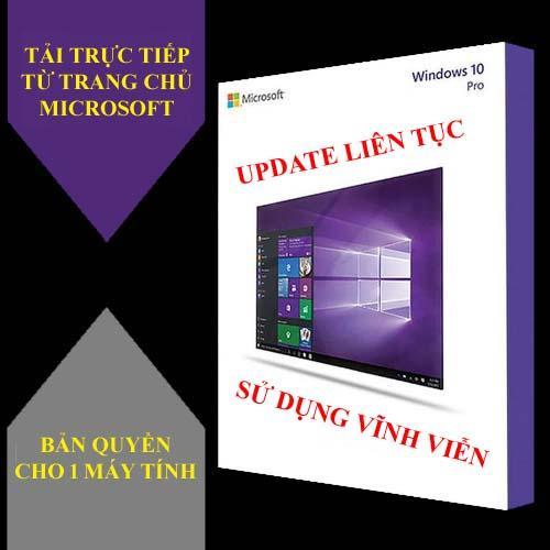 Hình ảnh Hệ điều hành Microsoft Windows 10 Pro 32/64 bit Bản quyền cực uy tín