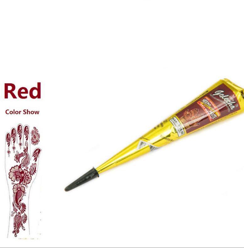 Hình ảnh Mực vẽ Henna màu nâu đỏ