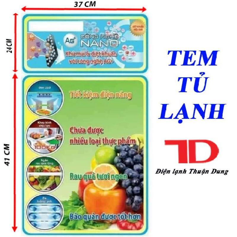 [Free Ship Toàn Quốc] TEM DÁN TỦ LẠNH + TẶNG KÈM BĂNG KEO 2 MẶT