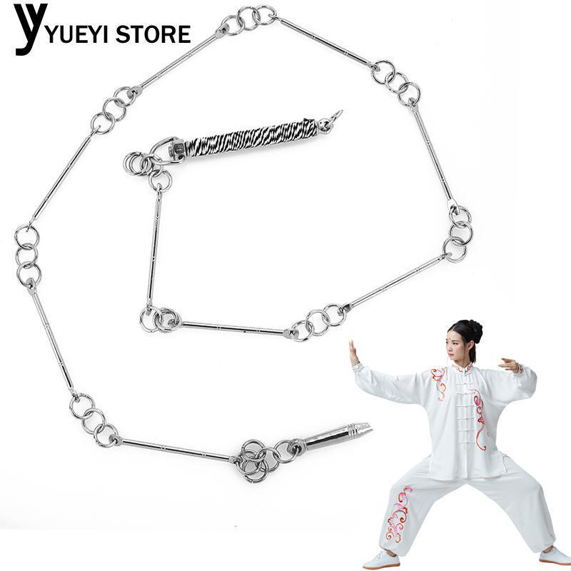 Hình ảnh YYSL Wushu Whip Metal Whip Silver Stainless Steel Martial Art Equipment