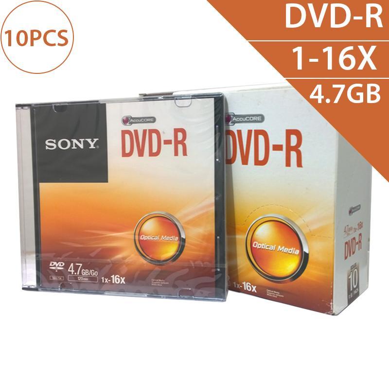 Hình ảnh Đĩa trắng DVD-R 4.7GB 120min 1x-16X Sony DMR47SS (10 chiếc - 1 lốc)