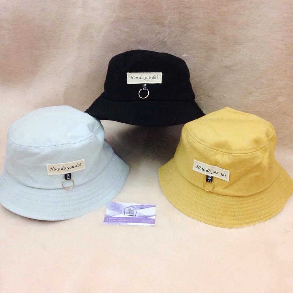 Mũ bucket in họa tiết