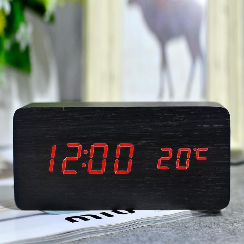 Đồng hồ điện tử đèn led báo thức /báo nhiệt độ /cảm biến âm thanh + ...