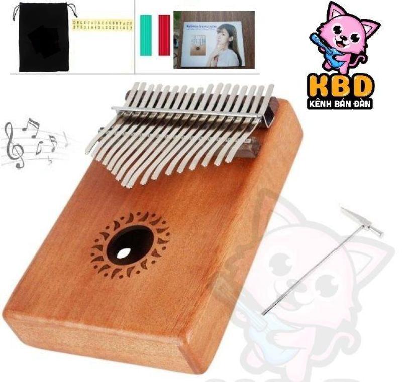 Đàn Kalimba 17 Phím Mahoga Myron MK-17ML (Solid Mbira Thumb Finger Piano 17 Keys - Kèm túi, hướng dẫn, búa lên dây, dán nốt - Cho trẻ cảm thụ Âm Nhạc và người mới chơi Nhạc Cụ)