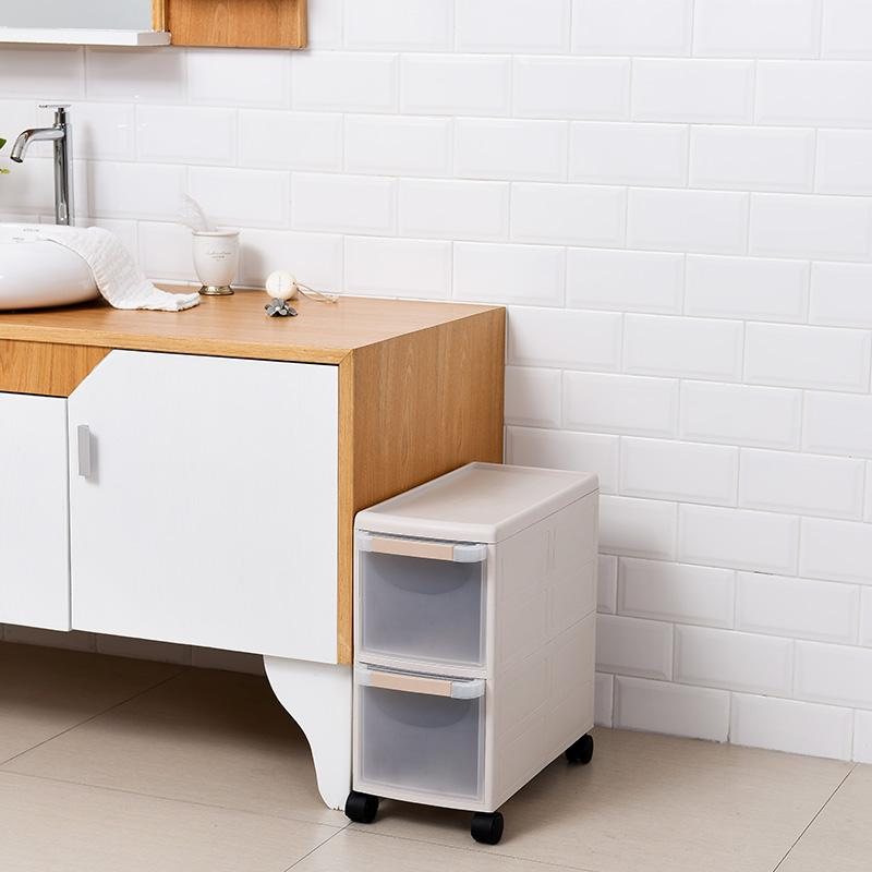 22 Cm Plastic between Storage Shelf Bathroom Gap Storage Cabinets Drawer Storage Organizing Narrow Cabinet Refrigerator bian jiao ju