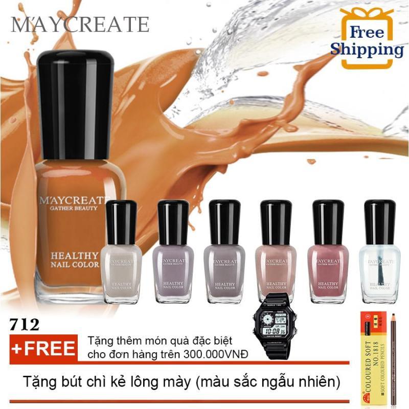 Bộ 12 lọ sơn móng tay màu cao cấp Maycreate + Tặng bút chì kẻ lông mày ( Đơn hàng mỹ phẩm trên 300k tặng thêm 1 đồng hồ thể thao như quảng cáo )(OEM)